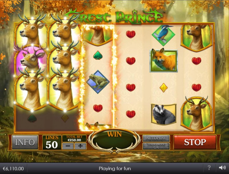 Forest Prince :: Scatter symbols triggers the free spins bonus feature