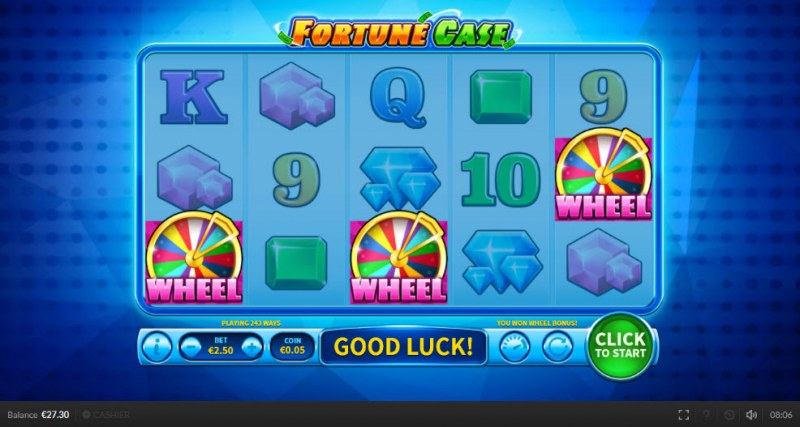 Fortune Case :: Scatter symbols triggers bonus feature