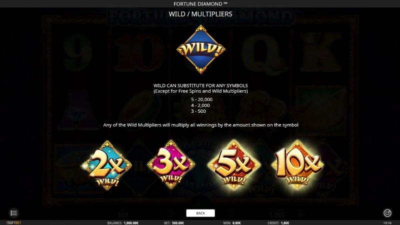 Fortune Diamond :: Wild Symbols Rules