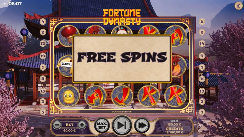 Fortune Dynasty :: Free Spins triggered