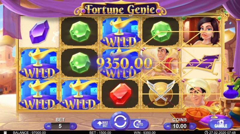 Fortune Genie :: Multiple winning paylines