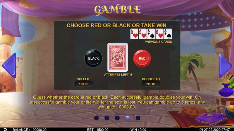 Fortune Genie :: Gamble Feature Rules