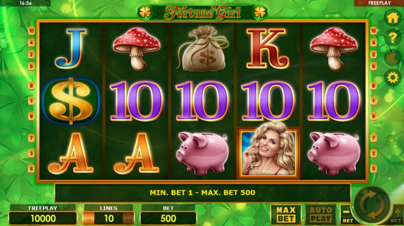 Play slots at Cobra: Cobra featuring the Video Slots Fortune Girl with a maximum payout of $500,000