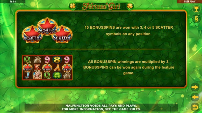 Fortune Girl :: Free Spins Rules