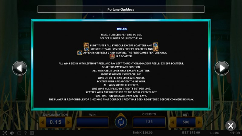 Fortune Goddess :: Feature Rules