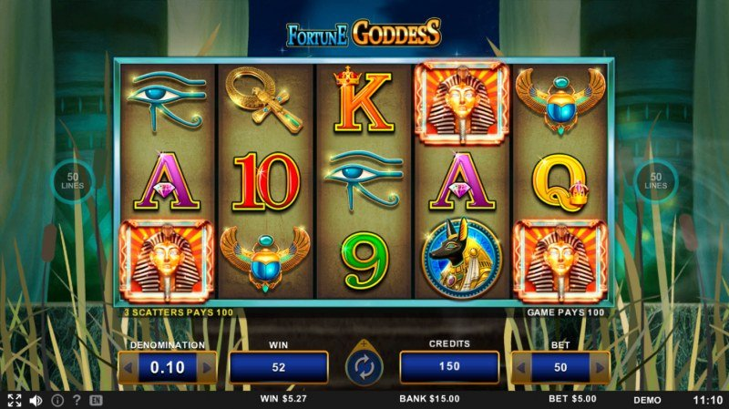 Fortune Goddess :: Scatter symbols triggers the free spins bonus feature