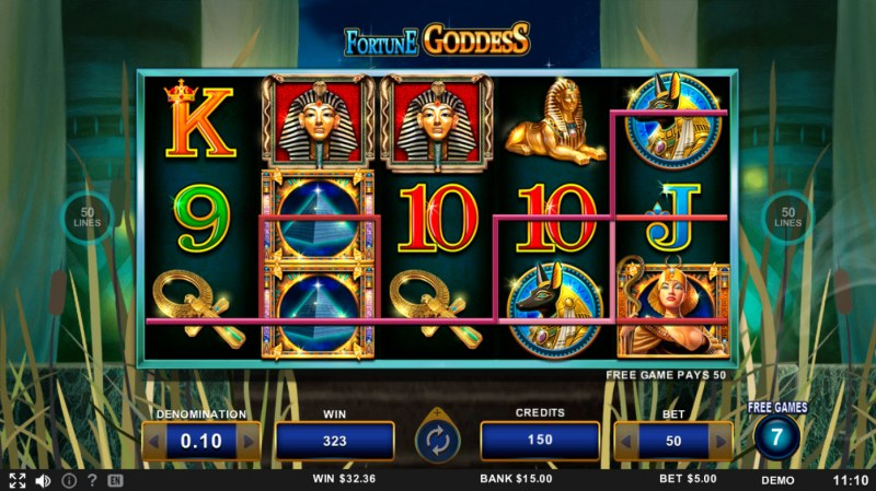 Fortune Goddess :: A three of a kind win