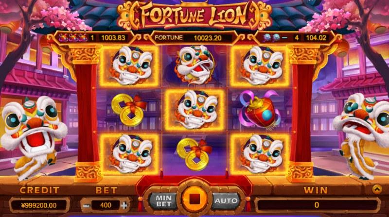 Fortune Lion :: Jackpot triggered