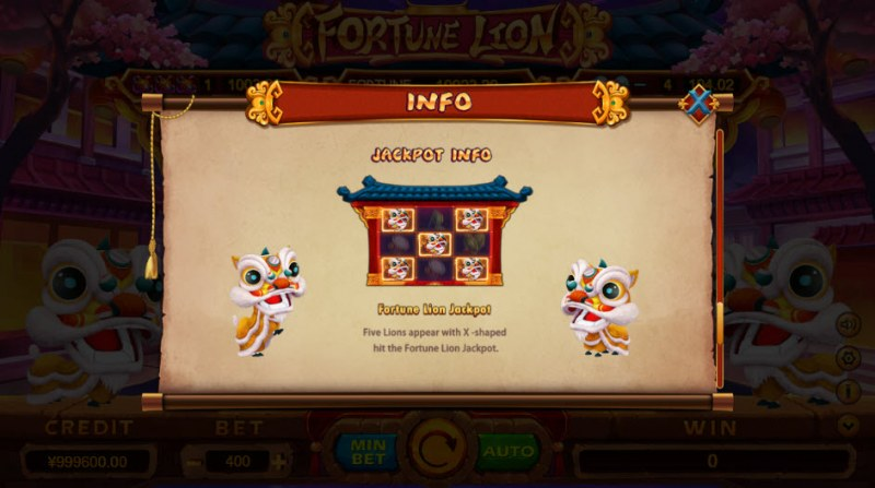 Fortune Lion :: Jackpot Rules