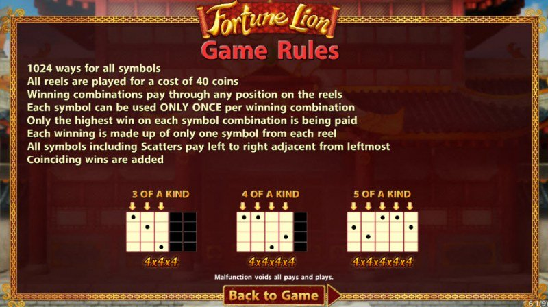 Fortune Lion :: 1024 Ways to Win