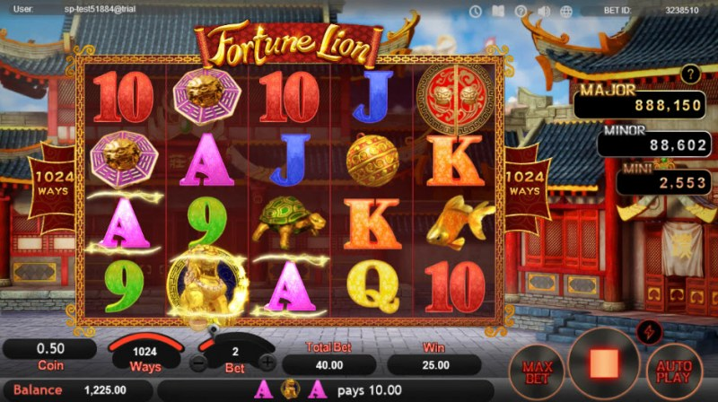 Fortune Lion :: Multiple winning paylines