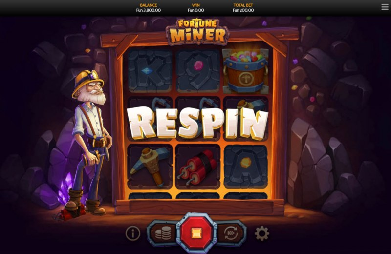 Fortune Miner :: Respin feature triggers randomly