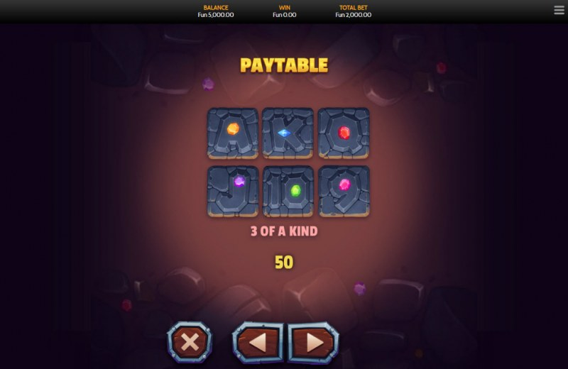 Fortune Miner :: Paytable - Low Value Symbols