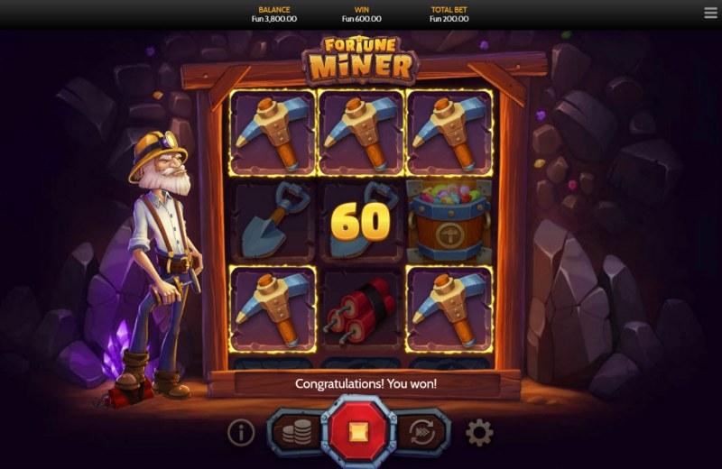 Fortune Miner :: Multiple winning combinations
