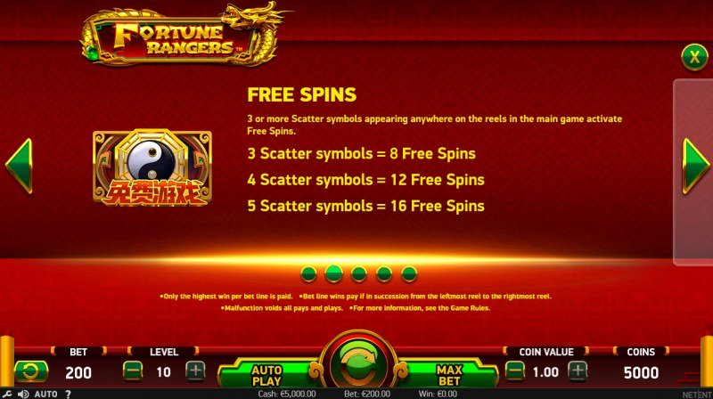 Fortune Rangers :: Free Spins Rules