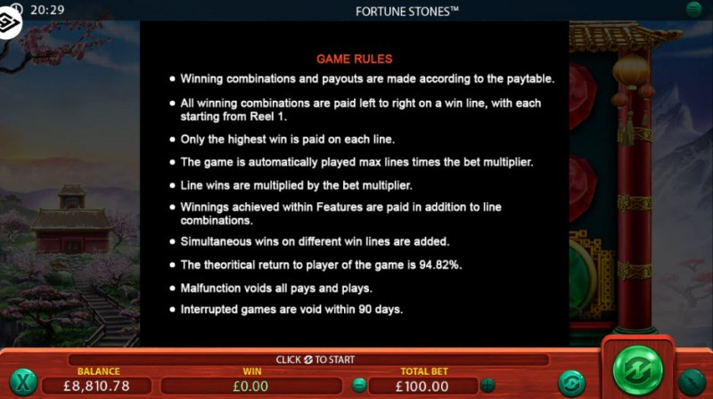 Fortune Stones :: General Game Rules