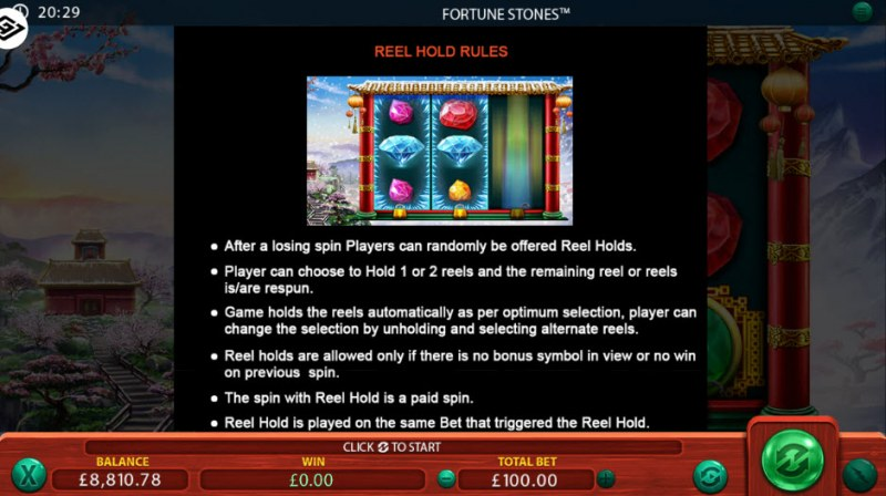 Fortune Stones :: Reel Hold Feature