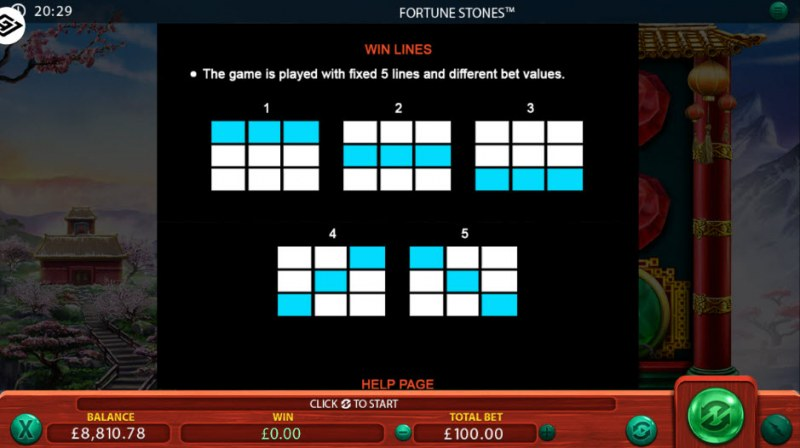 Fortune Stones :: Paylines 1-5