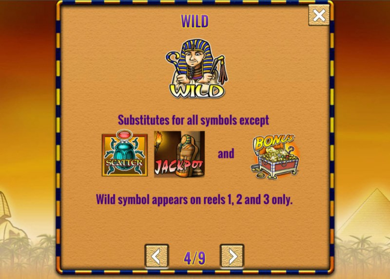 Fortunes of Egypt :: Wild Symbol Rules