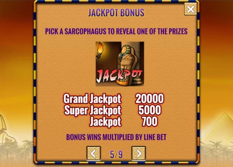 Fortunes of Egypt :: Jackpot Rules