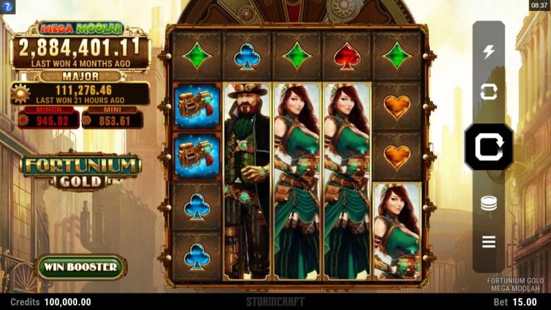Fortunium Gold Mega Moolah :: Main Game Board