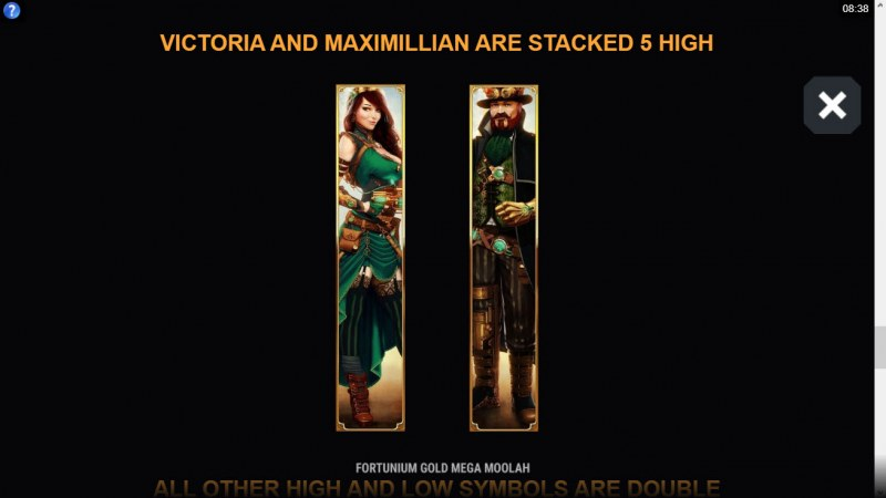 Fortunium Gold Mega Moolah :: Stacked Symbols