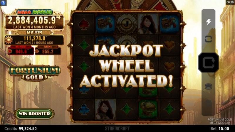 Fortunium Gold Mega Moolah :: Jackpot Wheel Activated