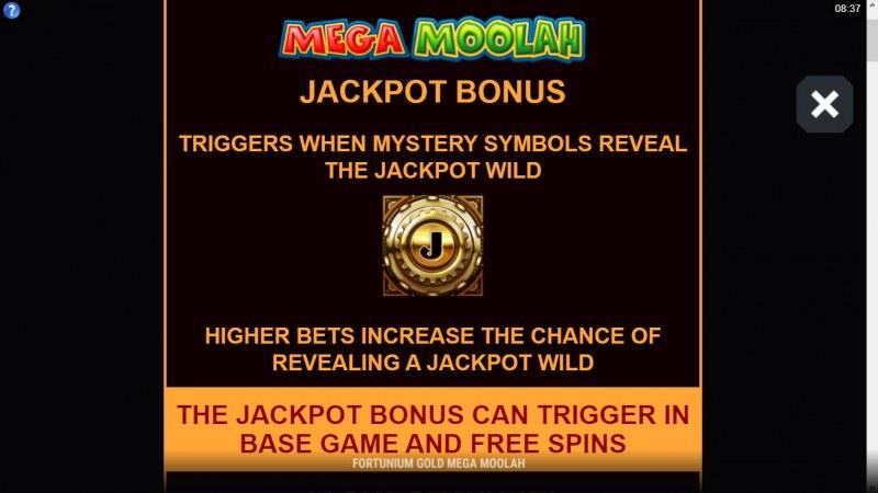 Fortunium Gold Mega Moolah :: Mega Moolah Progressive Jackpot