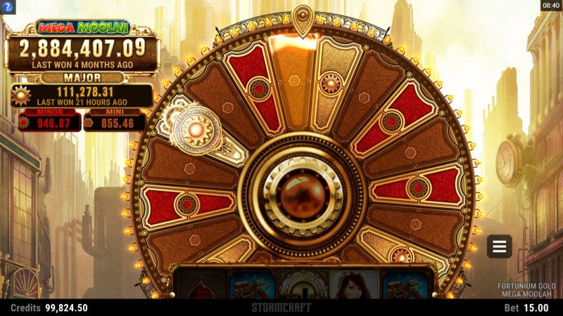 Fortunium Gold Mega Moolah :: Spin the wheel for a chance to win big
