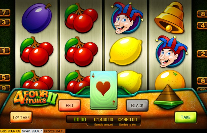 Four Fruits II :: Red or Black Gamble Feature