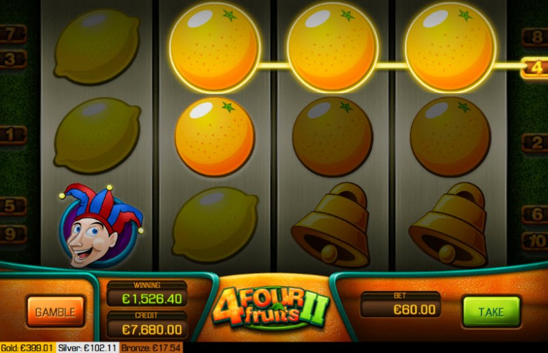 Four Fruits II :: Multiple winning paylines