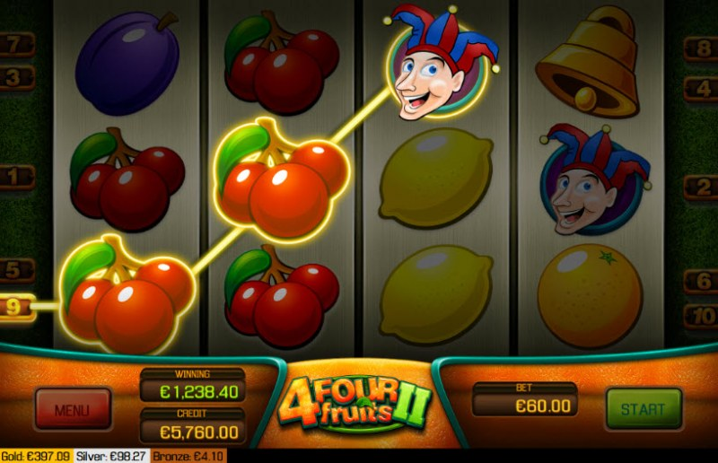 Four Fruits II :: Three of a kind win
