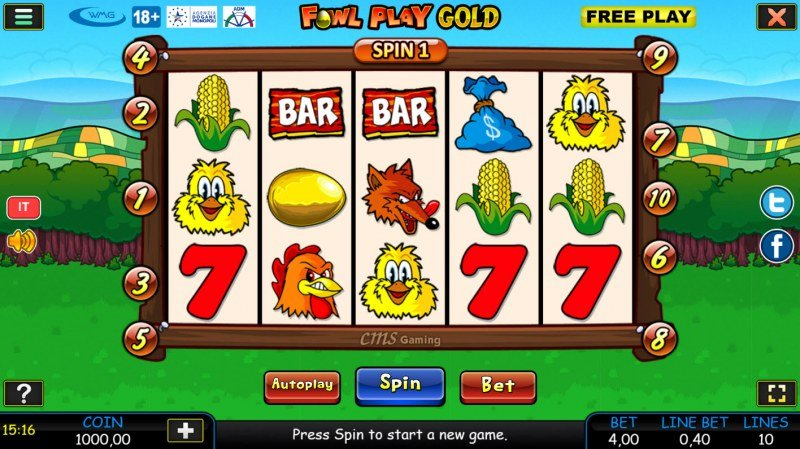Fowl Play Gold :: Main Game Board