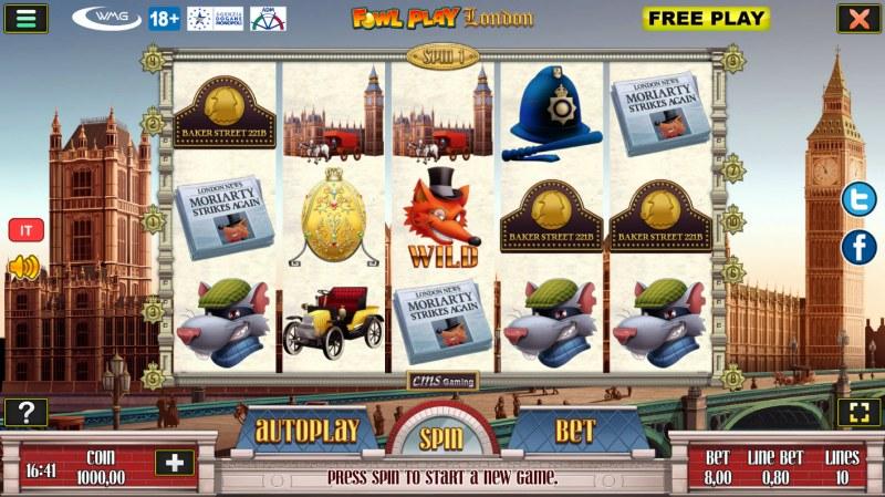 Fowl Play London :: Main Game Board