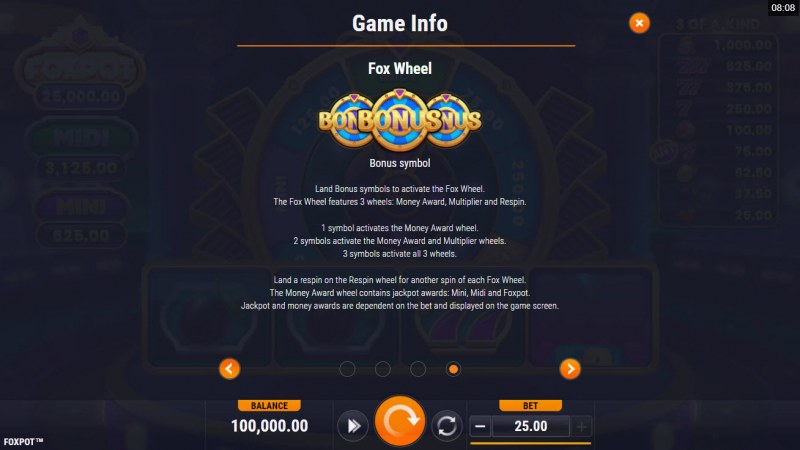Foxpot :: Bonus Wheel