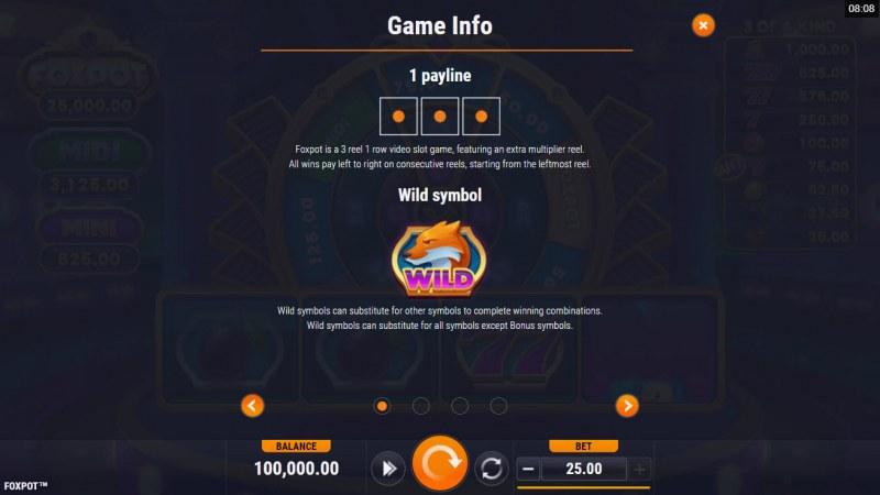 Foxpot :: Wild Symbol Rules