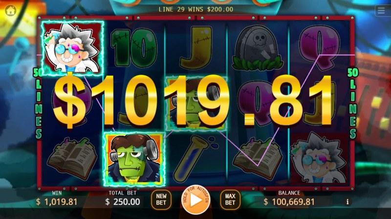 Frankenstein :: Multiple winning paylines