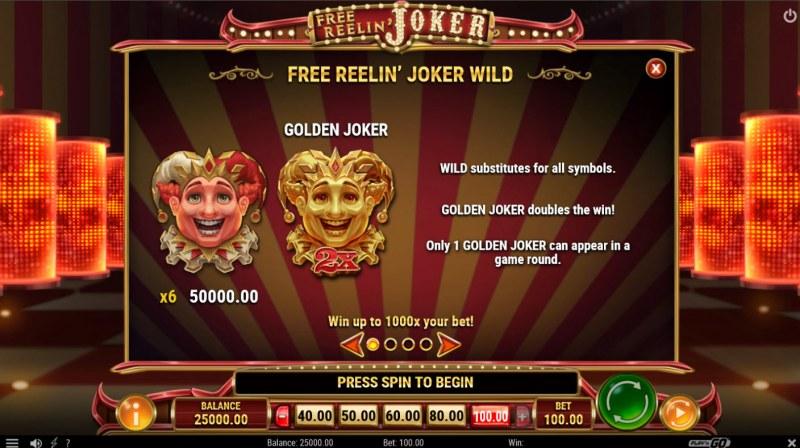 Free Reelin Joker :: Wild Symbol Rules