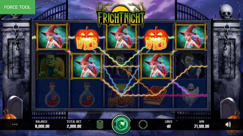 Fright Night :: Multiple winning combinations leads to a big win