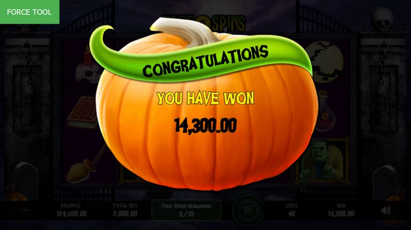 Fright Night :: Total free spins payout