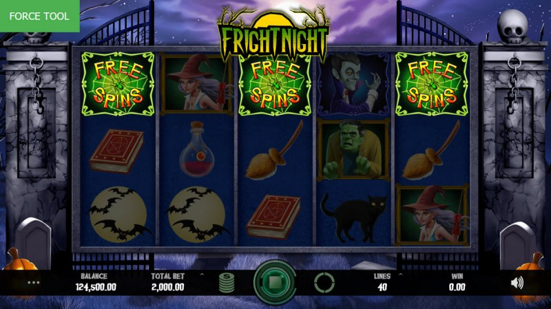 Fright Night :: Scatter symbols triggers the free spins feature