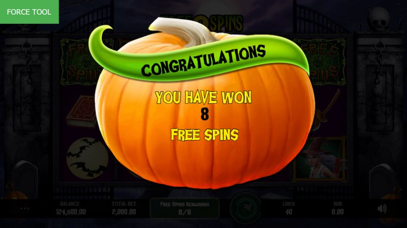 Fright Night :: 8 Free Spins Awarded