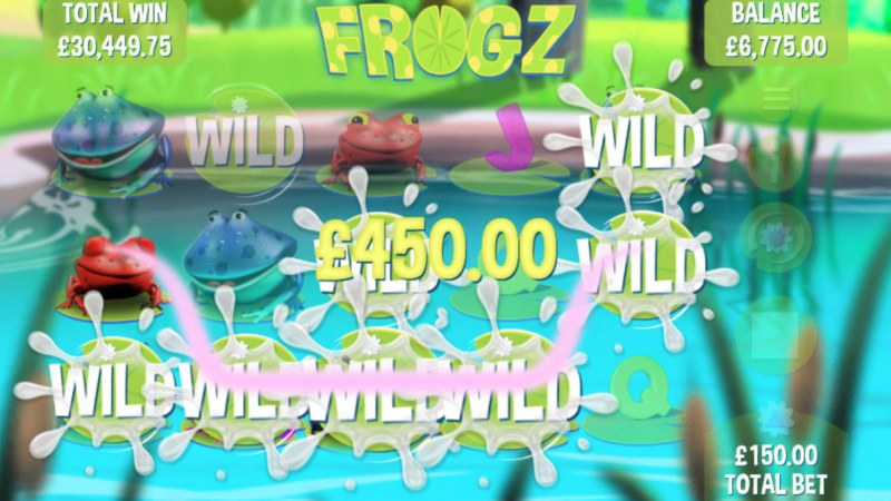 Frogz :: Multiple winning combinations leads to a big win
