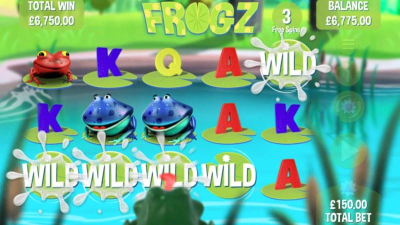 Frogz :: Multiple winning paylines