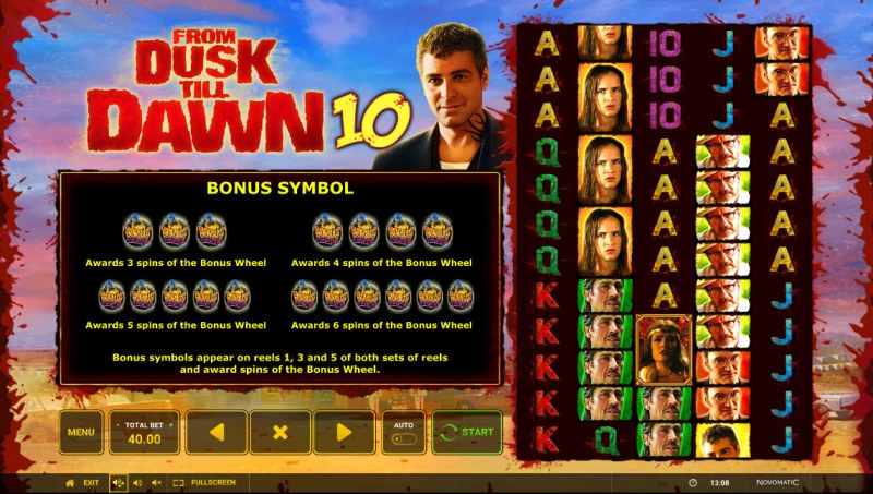 From Dusk till Dawn 10 :: Scatter Symbol Rules