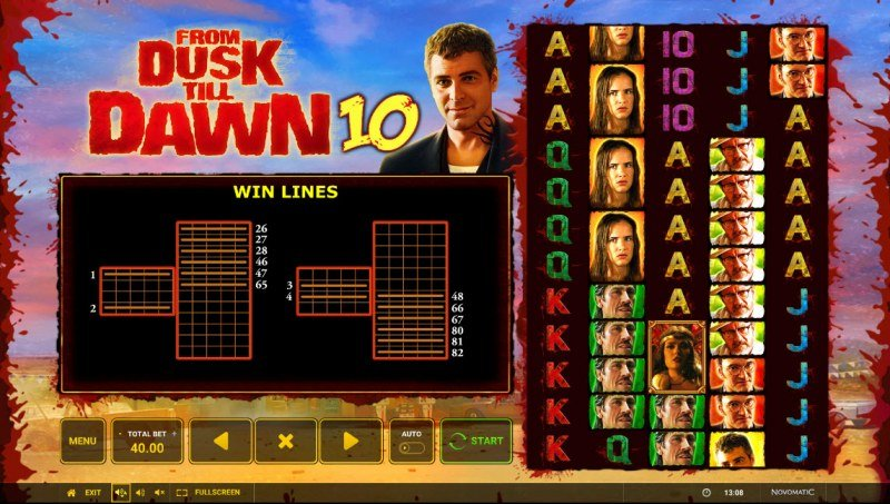 From Dusk till Dawn 10 :: Paylines
