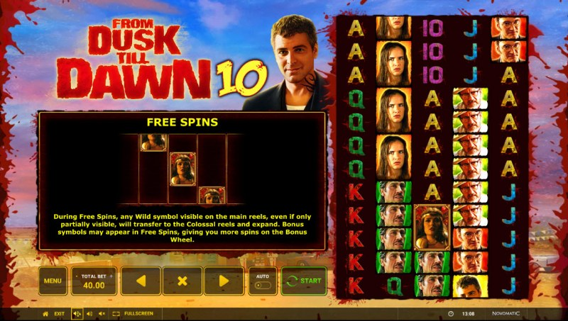 From Dusk till Dawn 10 :: Free Spin Feature Rules