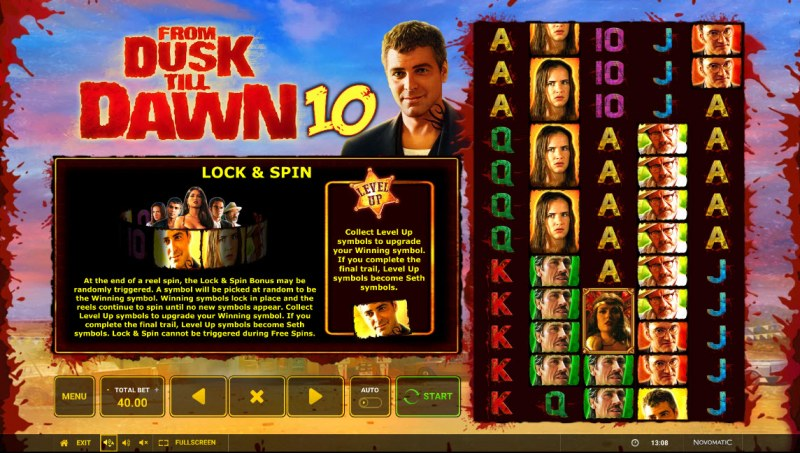 From Dusk till Dawn 10 :: Lock and Spin Feature