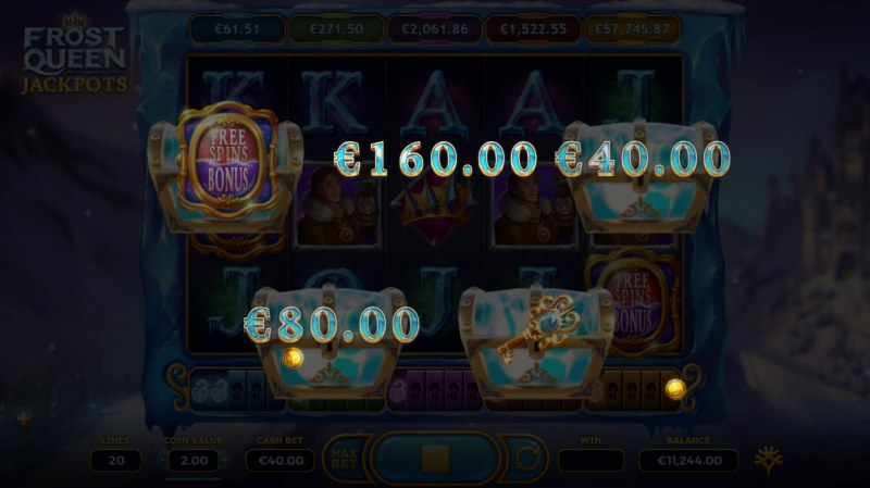 Frost Queen Jackpots :: Pick & Click game
