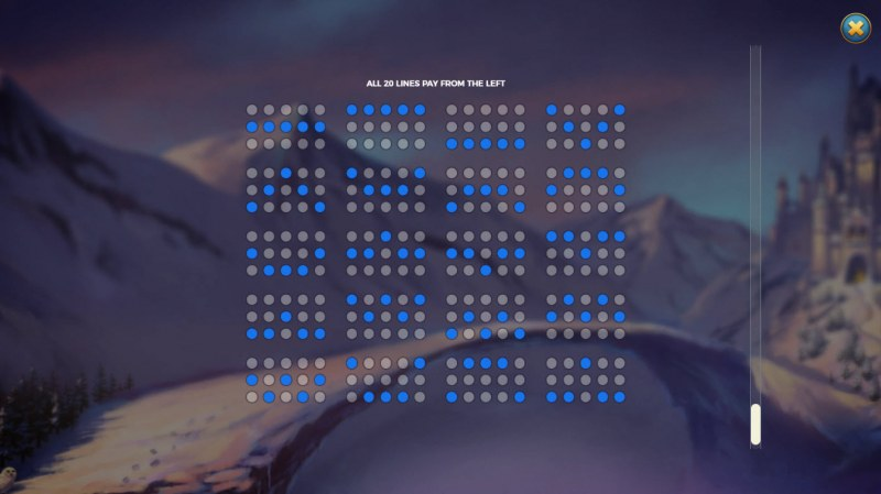 Frost Queen Jackpots :: Paylines 1-20
